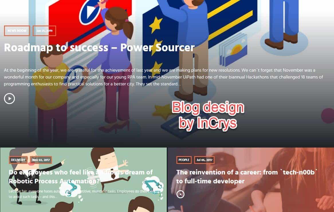 InCrys blog design